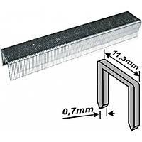 Скобы закаленные Профи, узкие прямоугольные, (тип 53), ширина 11,3 мм, 6 мм 1000 шт.