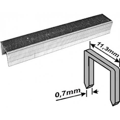 Скобы для мебельного степлера 12 мм 1000 шт., фото 2
