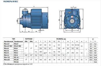 Насос вихревой Pedrollo PKm 80, 750 Вт, 3 м3/ч, 70 м, фото 3