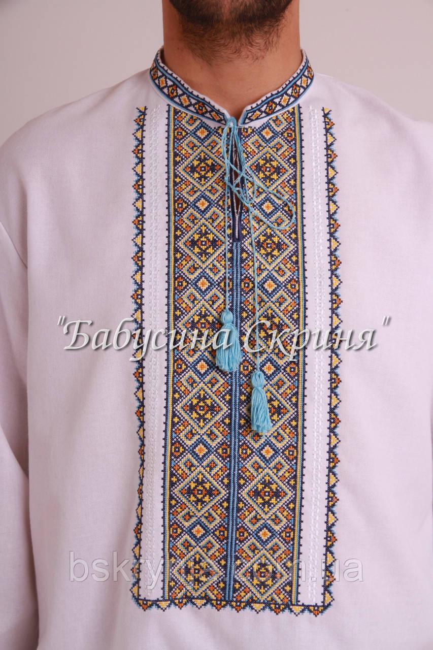 Заготовка чоловічої сорочки для вишивки нитками бісером БС-124ч ... f015e7a269c7d
