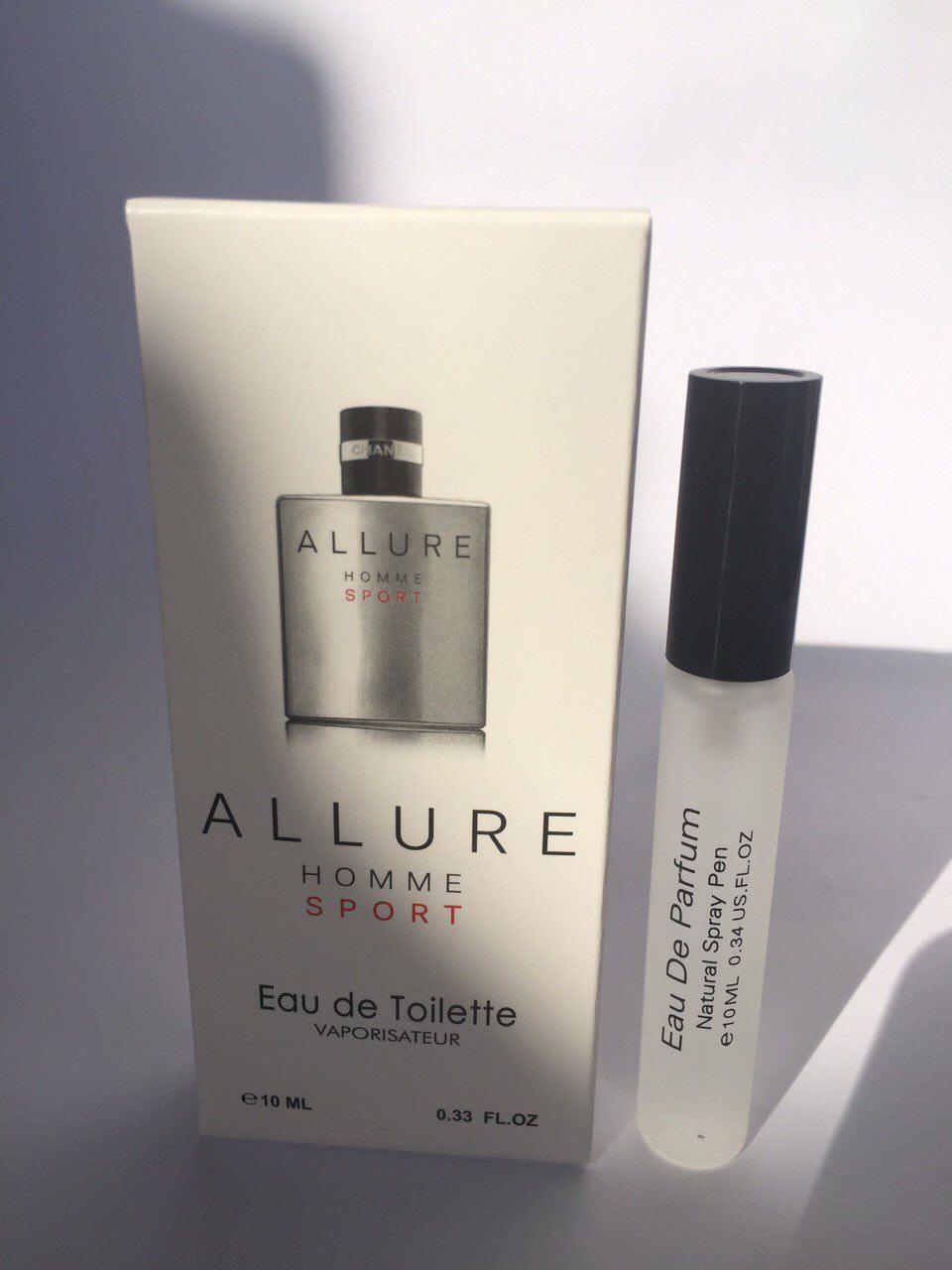 Мужской мини парфюм с феромонами Chanel Allure homme Sport (Шанель Аллюр Хом Спорт) 10 мл