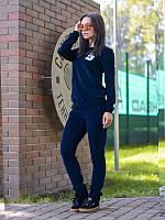 Костюм женский  велюровый синий №5 , спортивная одежда