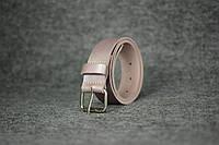 Кожаный ремень под джинсы |10916| Пудра