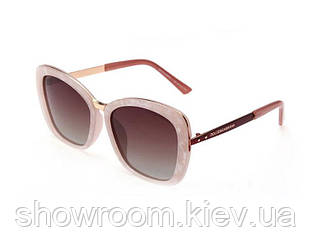 Женские модные брендовые солнцезащитные очки (15174) rose