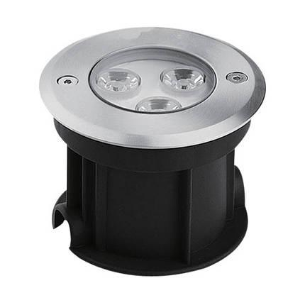 Светодиодный тротуарный линзованный светильник SP4111 3W 2700K IP67 Код.58887, фото 2