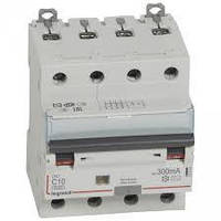 Дифференциальный автомат DX3 4П С 10A 300мА - АС (6kA) Legrand Легранд