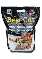 Наполнитель силикагелевый для кошачьего туалета Best Cat (Бест Кет) Блек без запаха, 7,2 л