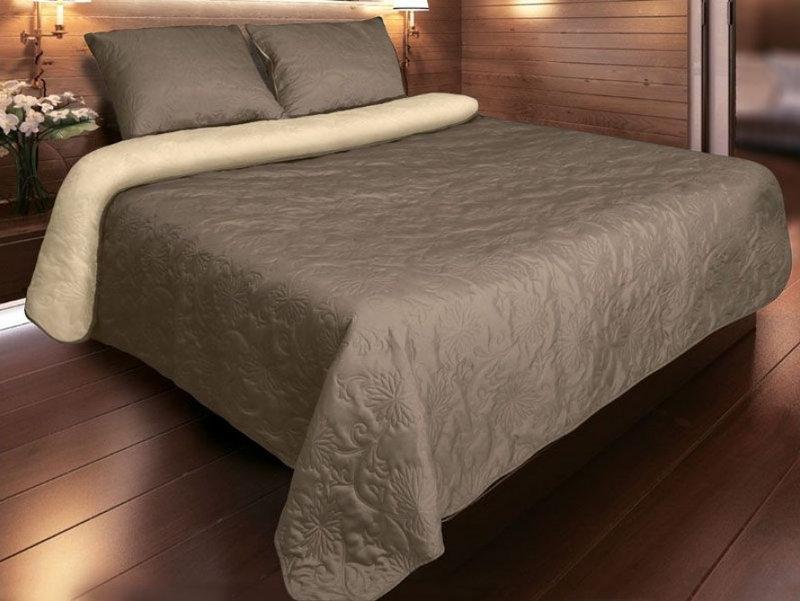 "Покрывало для кровати ""Vintage"" P-04 Капучино 220х240"