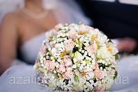 РОЗА+альстромерия  в свадебном букете