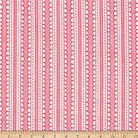 """Ткань для пэчворка и рукоделия американский хлопок """"Полоска ажурная розовая"""", 30*55 см"""