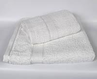 Белое махровое полотенце для лица