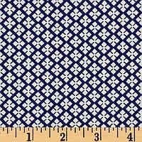 """Ткань для пэчворка и рукоделия американский хлопок """"Мелкие ромбы синие"""", 24*55 см"""