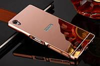 Металлический зеркальный чехол бампер Mirror на Sony Xperia Z5 Premium (4 цвета в наличии)