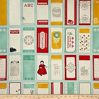 """Ткань для пэчворка и рукоделия американский хлопок """"Теги"""", 9 шт"""