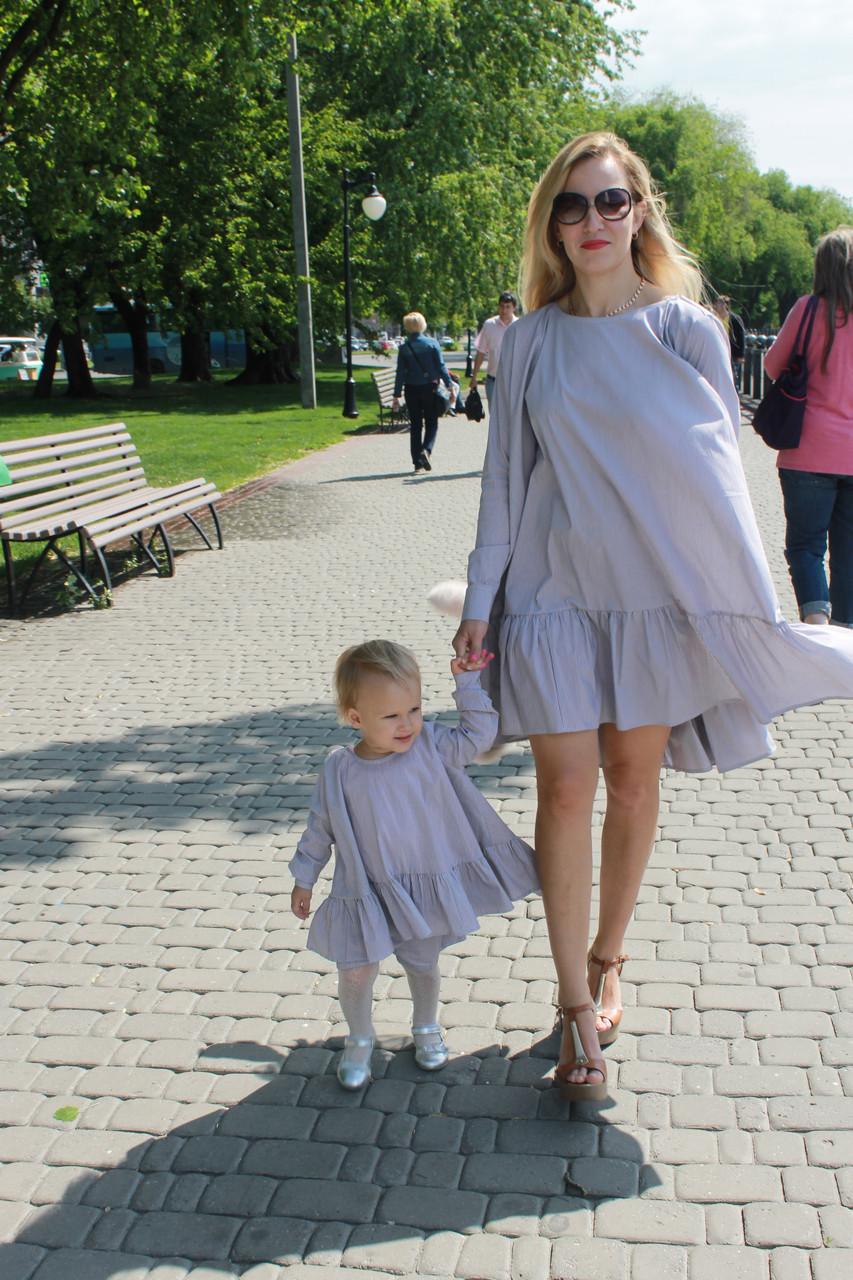 Лук платье с воланом