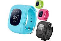 Детские смарт часы с GPS трекером Smart Baby Watch GW300 Q50, черные, синие, зеленые