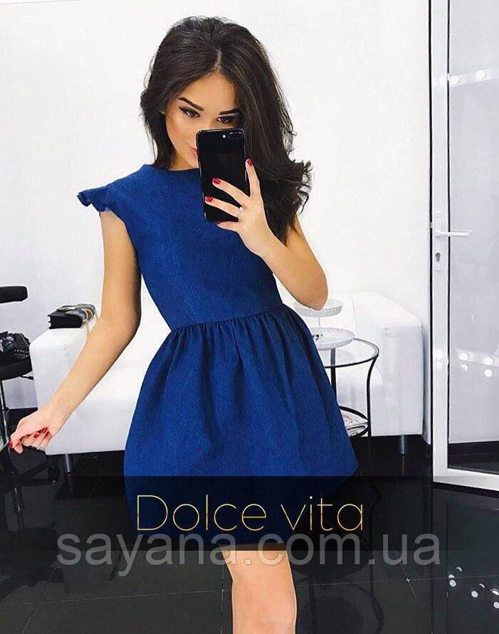 Женское красивое джинсовое платье