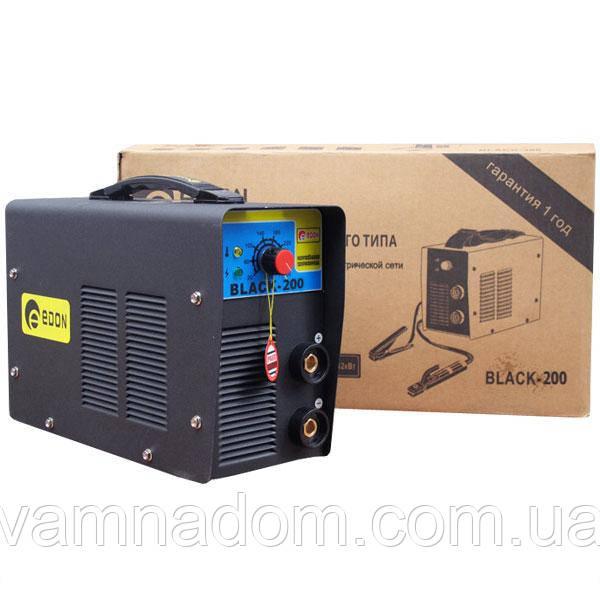 Інверторний зварювальний апарат Edon 200 Black mini