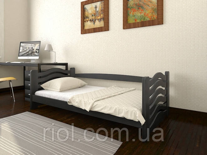 Кровать Микки Маус односпальная из массива бука