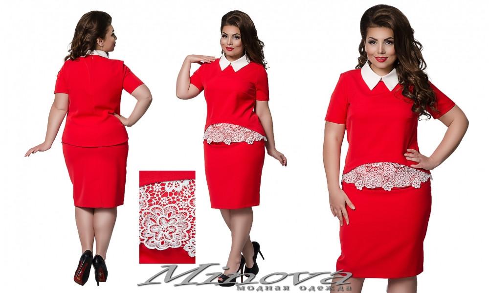 4245d7cfd84 Женский летний юбочный костюм Хейзел (размеры 50-54)  продажа