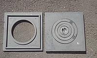 Плита чугунная 410*410 мм ГОСТ ОДНОКОМФОРОЧНАЯ (толстая 15 кг)