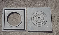 Плита чугунная усиленная 410*410 мм  ОДНОКОМФОРОЧНАЯ (толстая 16 кг)