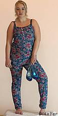 Комбинезон женский летний коттоновый большого размера MARINA, фото 3