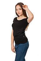 Женская футболка Code Original цвет черный размер 48 B16-2