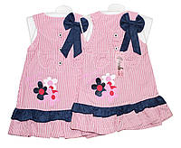 Платье детское трикотажное на лето Pink 0807