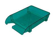 Лоток пластиковый для документов Арника горизонтальный салатовый 80507