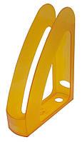 Лоток пластиковый для документов Арника вертикальный Радуга Jobmax лимонный 80538