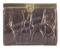Классический кожаный женский кошелек art.8098В фиолетовый