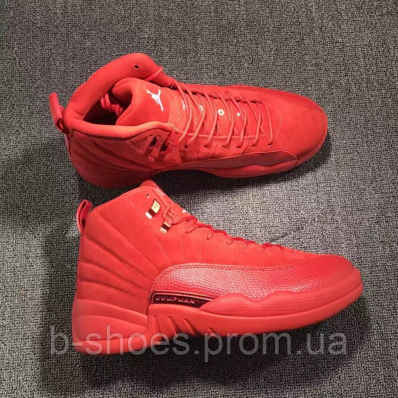 194c1cede070cf Мужские баскетбольные кроссовки Air Jordan Retro 12 (Toro Red Suede), ...