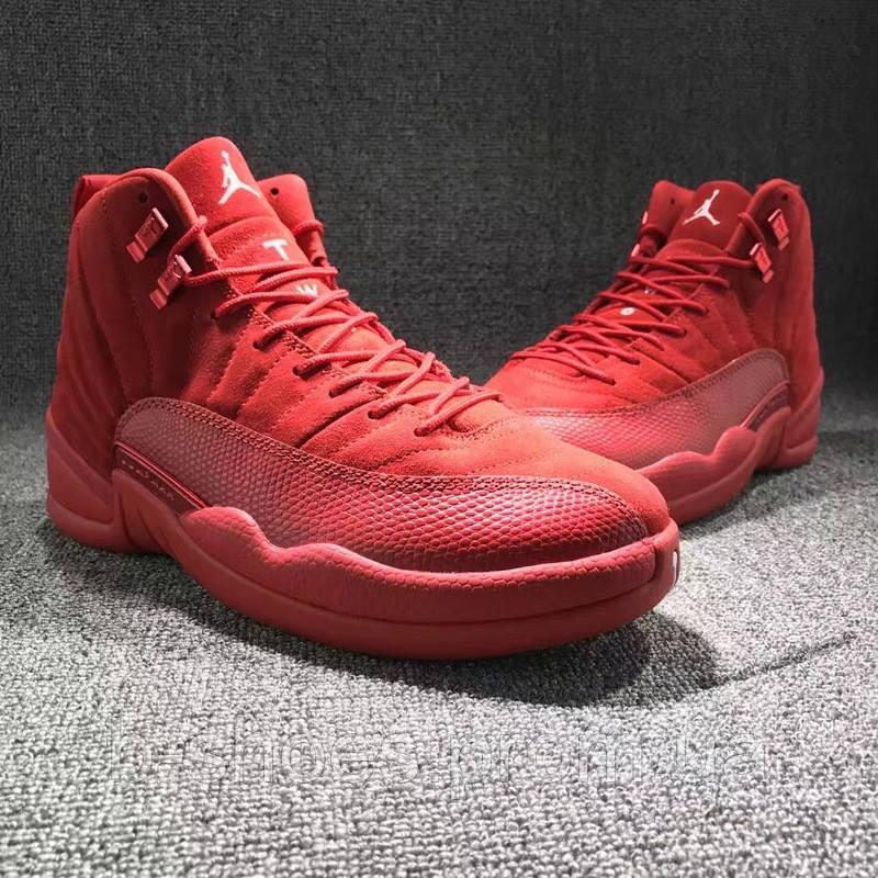 f35feccdab0bc6 Мужские баскетбольные кроссовки Air Jordan Retro 12 (Toro Red Suede ...