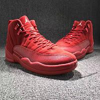 Мужские баскетбольные кроссовки Air Jordan Retro 12 (Toro Red Suede), фото 1