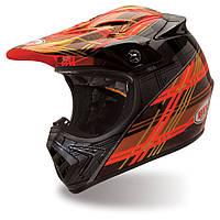 Мотошлем Bell Moto-8 Plaid оранжевый, S
