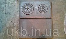 Плита чугунная усиленная 710*410 мм  ДВУХКОМФОРОЧНАЯ (толстая 26кг), фото 3