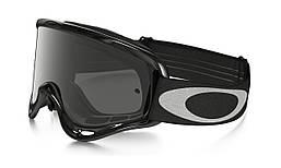 Маска очки для мотокросса Oakley O Frame Jet черные с серыми линзами