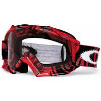 Маска кроссовая Oakley MX Proven Red Tribal