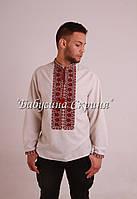 Заготівля чоловічої сорочки для вишивки нитками/бісером БС-108ч