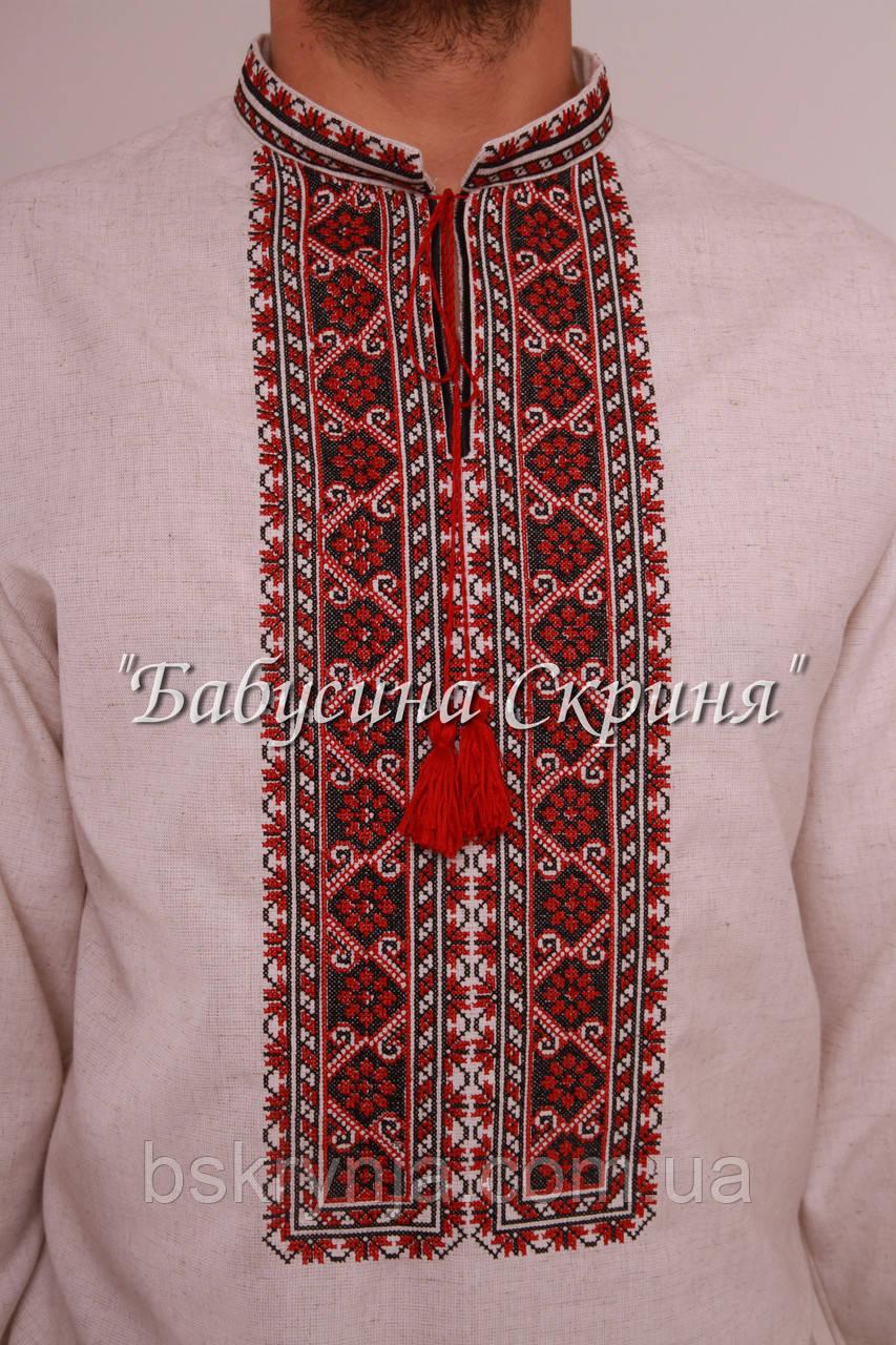 Заготовка чоловічої сорочки для вишивки нитками бісером БС-108ч ... 5c9d3fa0d50fc