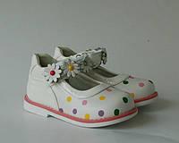 Туфли для девочек Шалунишка, арт. 100-123, горох