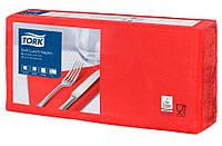 Салфетки бумажные Tork 33Х33см 3 слоя 250 шт. красные 477861