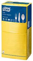 Салфетки бумажные Tork 33Х33см 3 слоя 250 шт. желтые 18343