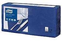 Салфетки бумажные Tork 33Х33см 3 слоя 250 шт. синие 477412