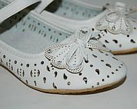 Туфли для девочек Calorie, арт. 085-13В, белый ажур бантик