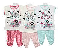Дитячі костюми трикотажні на літо для дівчинки Pink 1217