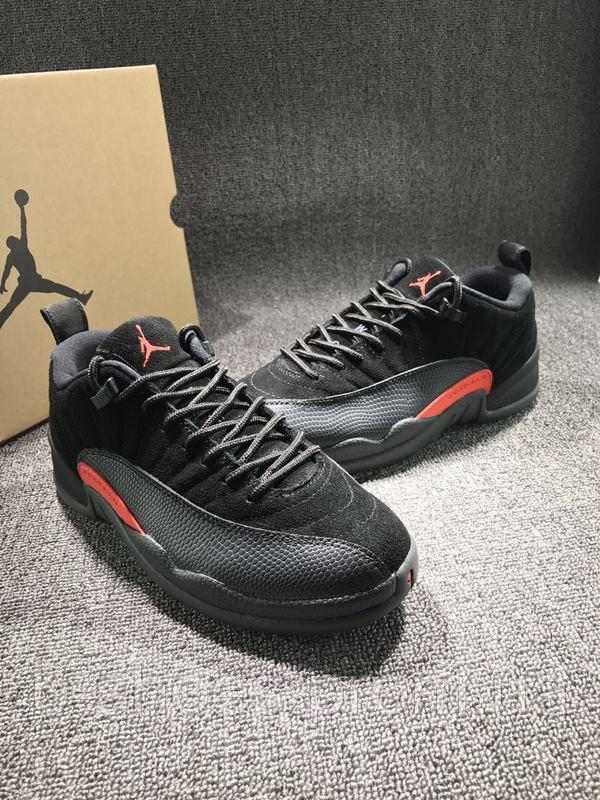 Мужские баскетбольные кроссовки Air Jordan Retro 12 Low (Max Orange)