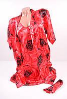 Комплект шёлковый женский (халат+ночная) Размеры в наличии : 42,44,46,48,50 арт.0110