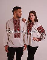 Заготовка чоловічої сорочки для вишивки нитками бісером БС-108ч Рубашка f0650458a1f8c